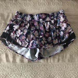 Floral Lululemon Hotty Hot Shorts
